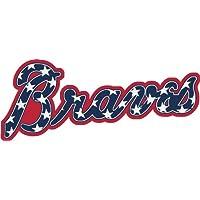 Atlanta Braves Logo MLB Baseball De Haute Qualite Pare-Chocs Automobiles Autocollant 15 x 8 cm