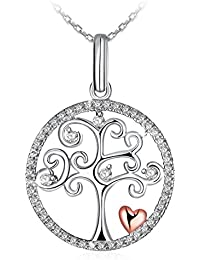"J.Rosée Silver necklace, 925 Sterling Silver Pendant, Jewellery Tree of Life, 18""+2"" Extender, Graduation Gifts"