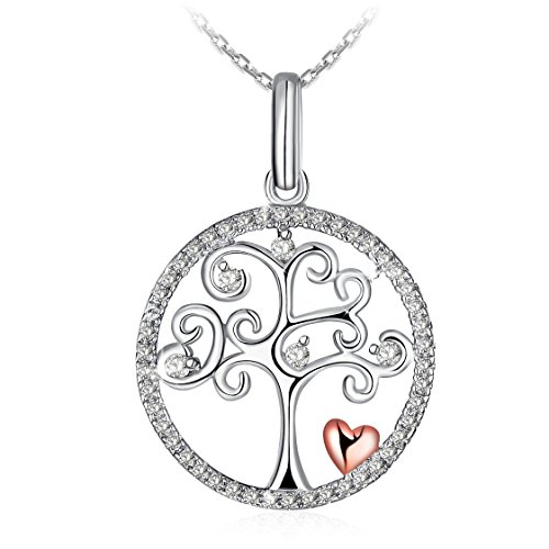 Canyon CPF1209 Women's Necklace 925/1000 Sterling Silver 0.97 g with Tree of Life Pendant, 43 cm