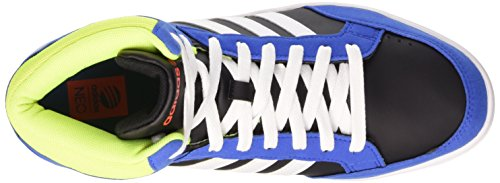 adidas NEO Unisex-Kinder Hoops Team Mid Hohe Sneakers Core Black/Ftwr White/Solar Red