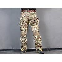 Menschen Militär Paintball Kriegsspiel Hose Kampf Gen3 Taktisch Hose und Kniepolster Multicam MC