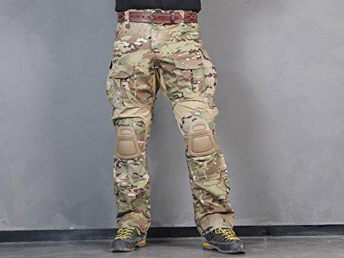 Menschen Militär Paintball Kriegsspiel Hose Kampf Gen3 Taktisch Hose und  Kniepolster (M (32)) 423785f655