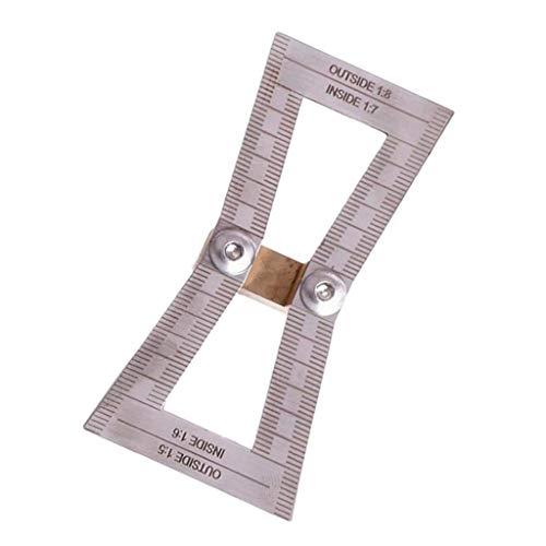 Schwalbenschwanz Hals Schablone Marker, perfekt für Hobby Holzarbeit, 1:5 1:6 1:7 1:8, aus Edelstahl - mit skala