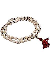 Ceramic Skull Bead Japa Mala Rosary Prayer Necklace Jewelry Meditation