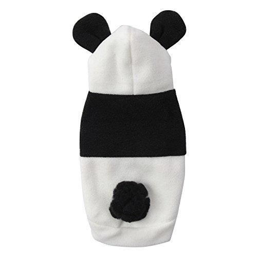 Katze Panda Kostüm - Halloween Haustier Kostüm Cartoon Panda Cosplay Lion Hunde Bekleidung Welpen Katze Mantel Kleidung Jumpsuit schwarz-weiss XS/S/M/L/XL