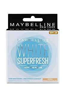 Maybelline New York White Super Fresh Compact, Shell, 8g