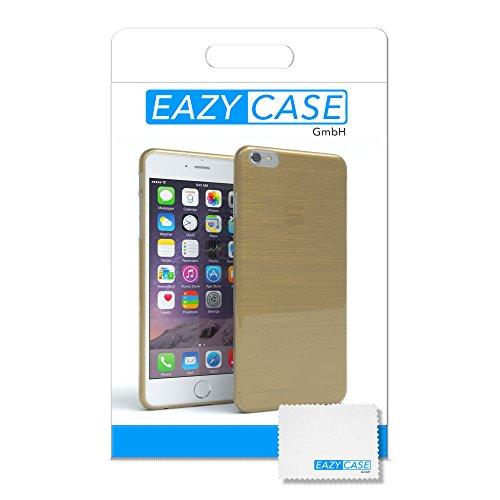"Apple iPhone 6S / 6 Hülle, EAZY CASE Ultra Slim Cover ""Matt"" - Premium Handyhülle Transparente Schutzhülle, Smartphone Case in Transparent / Weiß Brushed Gold"