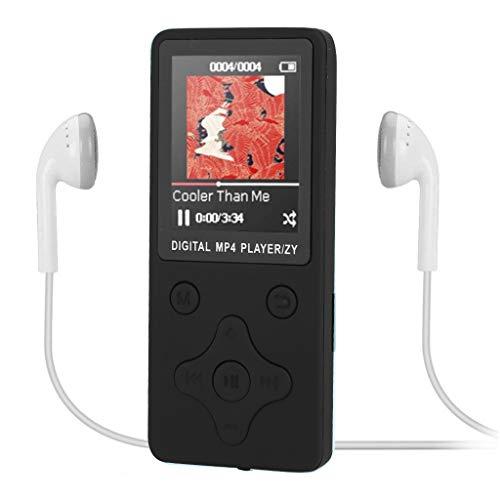 Jamicy® MP3 /MP4 Player 6 Stunden Wiedergabe Portable Klang Musik Player Erweiterbar auf bis zu 32 GB mit Kopfhörer 1,8-Zoll-TFT-Display, FM Radio Voice Recorder (Schwarz) - Herren-erweiterbar-uhr Bänder