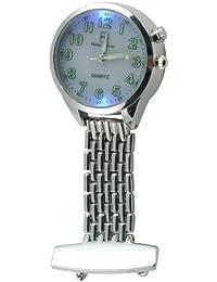Philip Mercier NW16/A - Reloj de bolsillo analógico de cuarzo unisex, color plateado