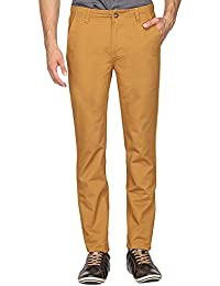 Stop By Shoppers Stop Mens 5 Pocket Solid Chinos