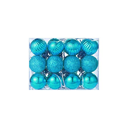 YearningH Christmas balls 24pcs / Lot 30mm Weihnachtsbaum-Dekor-Kugel-Flitter-Weihnachtsparty-hängende Kugel-Verzierung, Pflaume