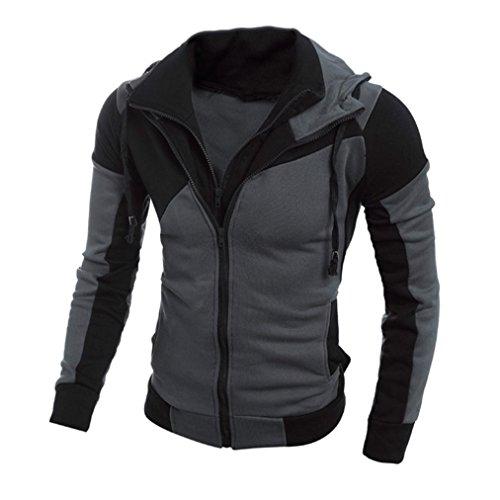 Tefamore Hommes Retro à manches longues à capuche Sweat à capuche Hauts Manteau, Vêtements / Tee shirts