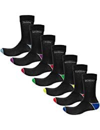 Days of Week ( Pk of 7 ) Everyday Cotton Socks - Black