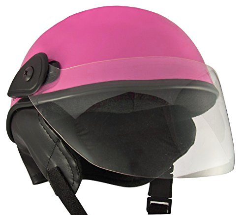 Anokhe Collections Lively Unisex scooty helmets for men, women and kids (Pink, Medium)
