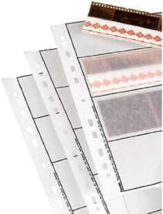 Hojas Negativos Transparente//Blanco Kaiser KA2530 35 mm Papel, Horizontal 7 Tiras x 6 Negativos, Acetato