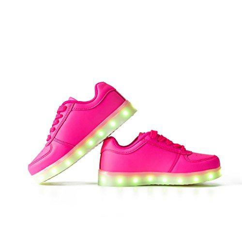DoGeek Scarpe Led Luminosi Sneakers Scarpe uomo Con Le Luci Accendono Scarpe Sportive Rosa