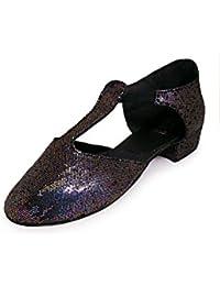 Roch Valley Dorothy - Zapatos de claqué con purpurina, color rojo rojo rosso Talla:1 UK / 33 EU