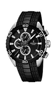 Festina F16664/4 - Reloj cronógrafo de cuarzo para hombre con correa de caucho, color negro de f16664-4