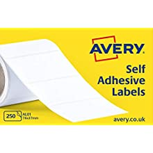 Avery Self Adhesive Address Mailing Labels on a Roll, 250 Per Roll, (AL01)