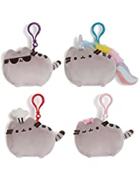Pusheen The Cat Plush Clip On Backpack Plush Set