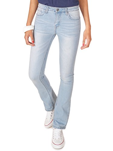 62nd Avenue Damen Bootcut Jeans Used Flared Hellblau 6217 L / 40 (Denim Avenue Jeans)
