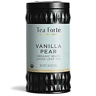 Tea-Forte-Lotus-VANILLA-PEAR-Loose-Leaf-Organic-White-Tea-282-Ounce-Tea-Tin