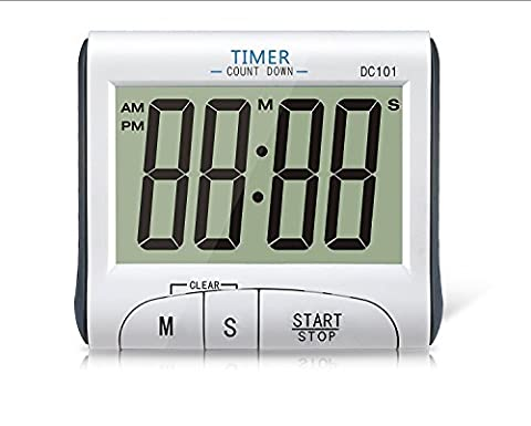TopSun Digital kitchen timer Large Display Electronic Digital Countdown and Count up Magnetic Loud Alarm Kitchen Timer Stopwatch Digital 24 Hours Clock Timer