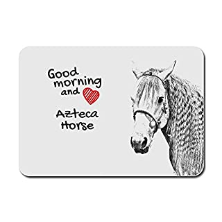 Azteca Pferd, Ein Computer-Maus-Pad mit einem Bild von einem Pferd