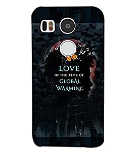 PrintDhaba LOVE THEME D-6538 Back Case Cover for LG NEXUS 5X (Multi-Coloured)