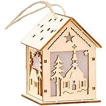 Madera Árbol de Navidad decoración colgante, madera hogar Forma de Árbol de Navidad decoración con