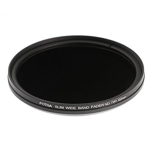 Ruili Schlank Fader Variable ND Filter einstellbar Neutrale Dichte 62mm, ND2 to ND400,62mm Kamera Filter -