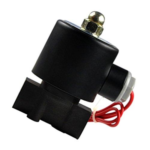 MagiDeal Kunststoff Elektrisches Magnetventil Für Wasser Luft Öl Brennstoffe Normally Geschlossen - 10mm DC12V