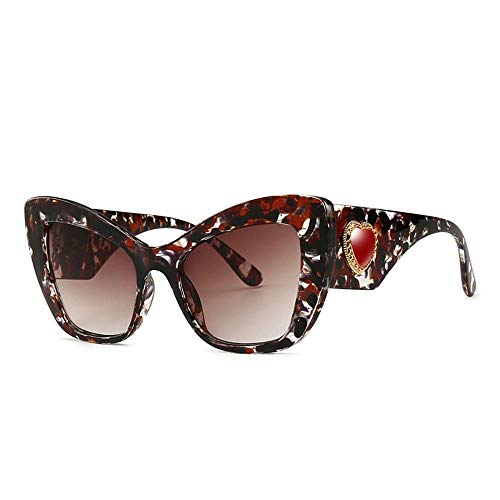 QYYtyj Sonnenbrille mit großem Gestell Sonnenbrille für die äußere Frau Anti-UV-Anti-Ermüdung mäßig robust Tragen Sie die Beste Fahrbewegung (Color : A)
