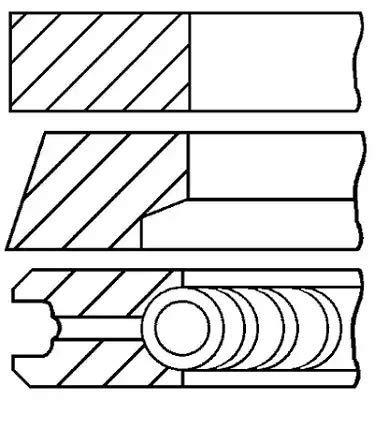 Goetze Engine 08 - 118000 - 00 Set de bagues de Piston