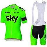 veinater Hombres de bicicleta para carretera Carreras Manga Corta Ciclismo Jersey y pantalones cortos en bicicleta babero Kit verde, hombre, color verde, tamaño XXXL