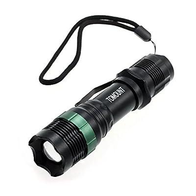 CARCHET® CREE Q5 1600LM LED Taschenlampe Handlampe 3 Leuchtmodi zoombar 7W Wanderung von TOMOUNT - Outdoor Shop