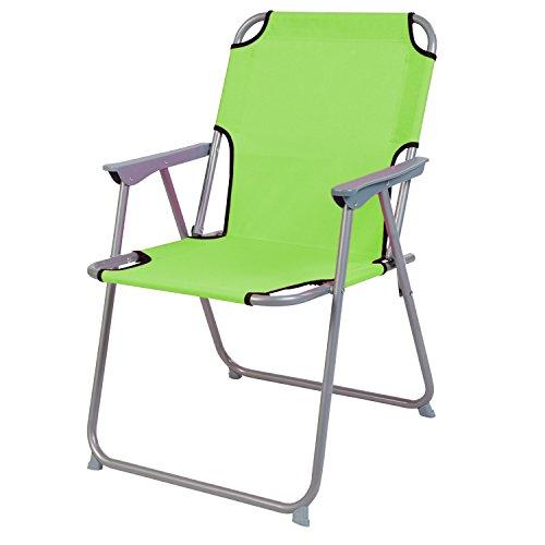 Praktisch und Gut. Campingstuhl Faltstuhl Stoff Lime Grün Camping-Klappstuhl Anglerstuhl Regiestuhl Angelstuhl Metall