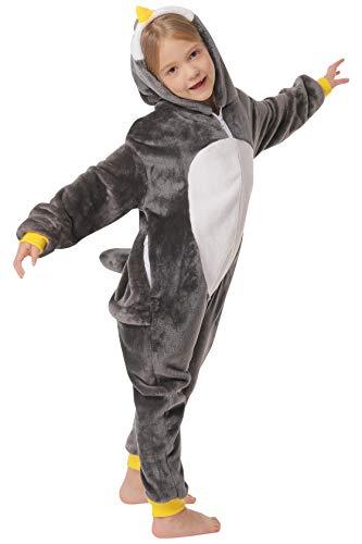corimori 1851 Pablo der Pinguin Kinder Jungen Mädchen Onesie Jumpsuit Anzug Kostüm Verkleidung (Gr. 130-150 cm), - Ninja Kleinkind Kostüm