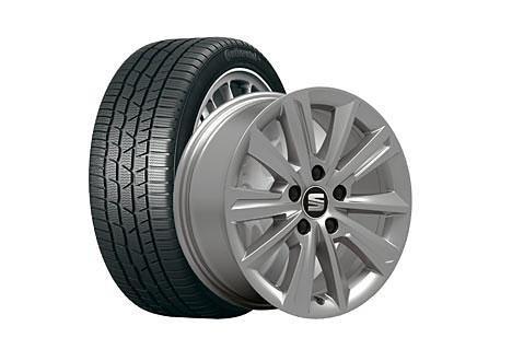 Preisvergleich Produktbild VW SEAT WKR Izarus 6, 5x16 5 / 112 / 33 Alu-Komplettrad Gar. 205 / 60 R16 96H,  CTI TS830P - S2056016830