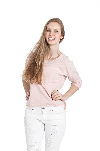 Abbino Shirt 15657 - Made in Italy - Spitze & Festlich - 4 Farben Rosa