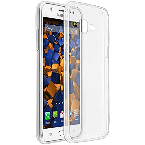 mumbi UltraSlim Hülle für Samsung Galaxy J5 (2015) Schutzhülle weiss transparent (Ultra Slim - 0.55