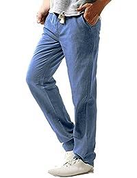 Styledress Herren Hose, Sommer Herren Leinen Hose Weiss Herren Slim Fit  Jeans Cargo Jogging Pants Männer Strandhosen Feste Hose… f82cd98ccd