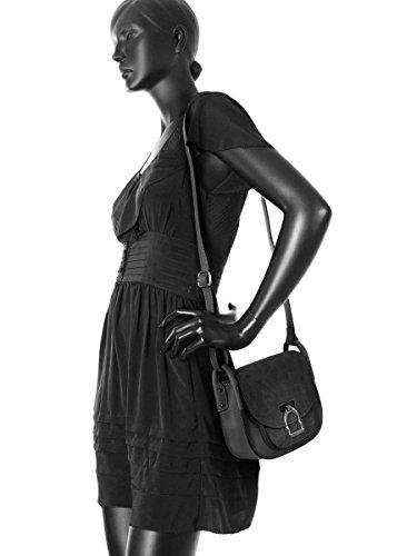 Sac Bandoulière Caleche Cuir femme noir Noir