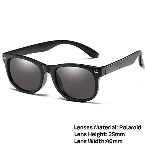 Neue Kinder Polarisierte Sonnenbrille TR90 Jungen Mädchen Sonnenbrille Silikon Schutzbrille Geschenk For Kinder UV400 Brillen (Lenses Color : Matte black)