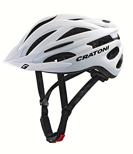 Cratoni Pacer+ Fahrradhelm, White Matt, S-M