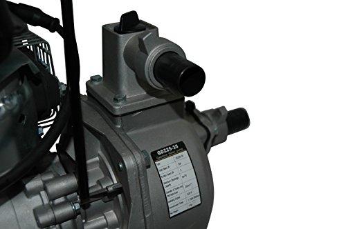 YERD Benzin-Wasserpumpe BW QDZ25-35 (4-Takt Motor, 1,5 PS, 1″ Zoll Anschlüsse) - 6