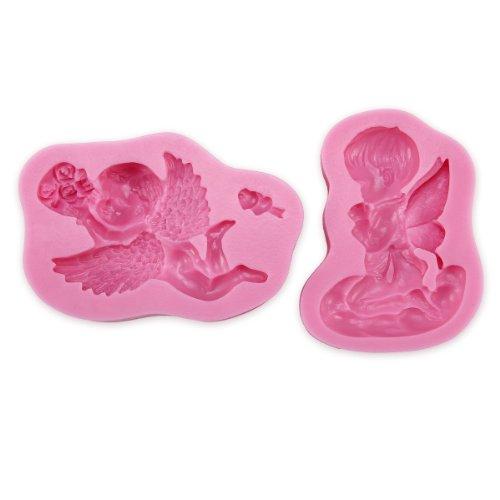 2er 3D Effekt Engel Angel Cupido Eros Torten Deko Silikon Ausstechform Ausstecher Marzipan Fondant