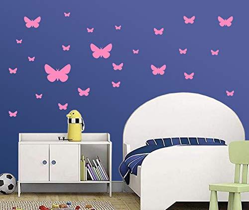 Carta Da Parati Su Muro Ruvido.Premyo Set 25 Farfalla Sticker Da Muro Adesivi Murali Bambini Decorazioni A Parete Cameretta Facile Da Applicare Adatta Carta Da Parati Ruvida Grigio