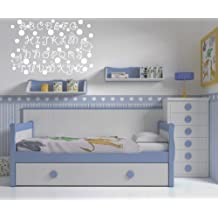 Vinilos decorativos de abecedario infantil 90x60 cms Blanco