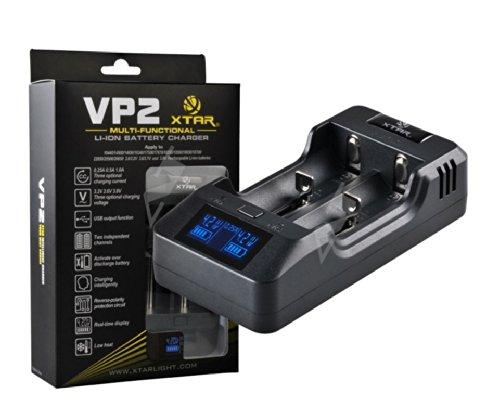 Xtar VP2 Intelligentes CCCV Ladegerät mit 2 Ladeschächten